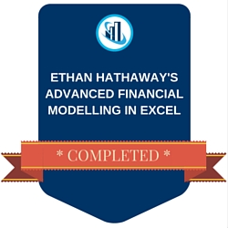 Ethan Hathaway Advanced Financial Modelling Digital Badge of Completion